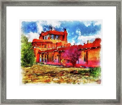 Mabel's Courtyard In Aquarelle Framed Print