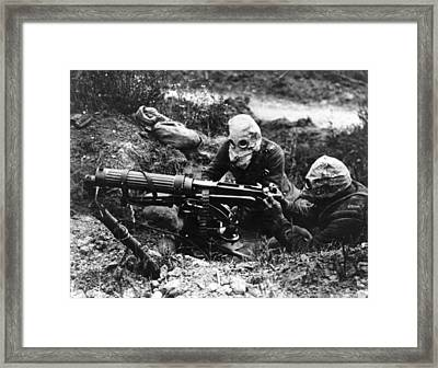 Machine Gunners Framed Print by General Photographic Agency