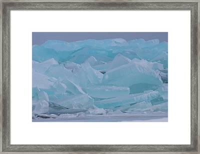 Mackinaw City Ice Formations 21618010 Framed Print