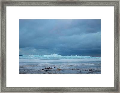 Mackinaw City Ice Formations 21618011 Framed Print