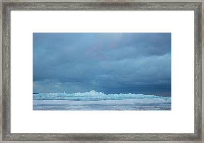 Mackinaw City Ice Formations 21618012 Framed Print