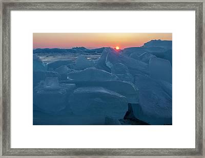 Mackinaw City Ice Formations 21618013 Framed Print