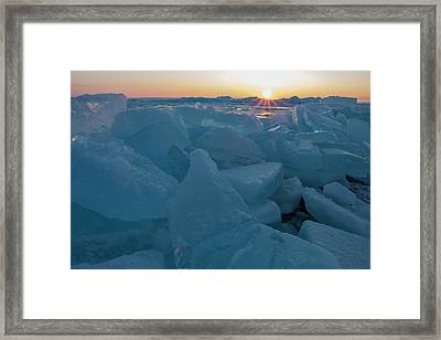 Mackinaw City Ice Formations 21618014 Framed Print