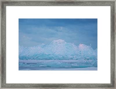 Mackinaw City Ice Formations 2161802 Framed Print