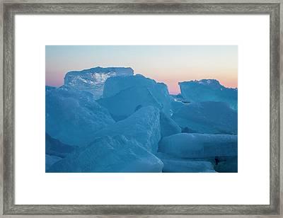 Mackinaw City Ice Formations 2161804 Framed Print