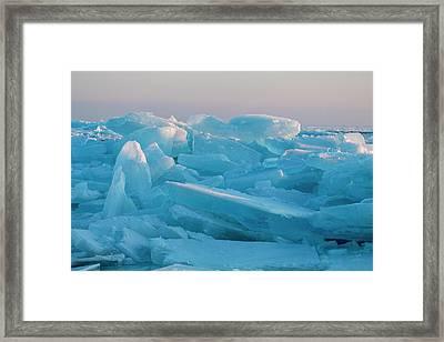 Mackinaw City Ice Formations 2161807 Framed Print