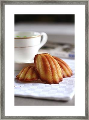 Madeleines With Tea Framed Print by Lulu Durand Photography