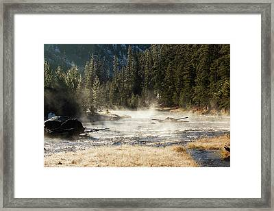 Framed Print featuring the photograph Madison River Morning by Pete Federico