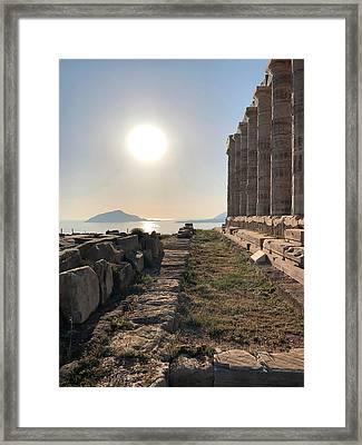 Magic At Sunset Framed Print