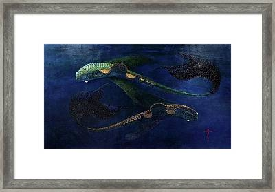 Framed Print featuring the painting Magic Fish by James Lanigan Thompson MFA
