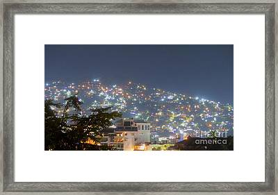Framed Print featuring the photograph Magic Of Zihuatanejo Bay by Rosanne Licciardi