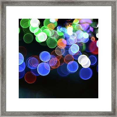 Magical Lights Background Framed Print by Alubalish