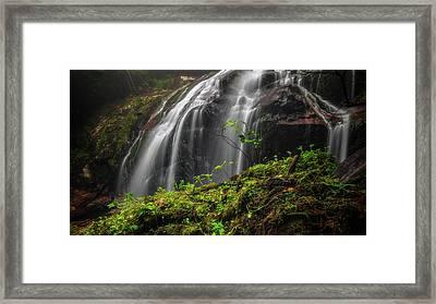 Magical Mystical Mossy Waterfall Framed Print