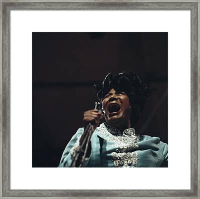 Mahalia Jackson In Concert Framed Print by David Redfern