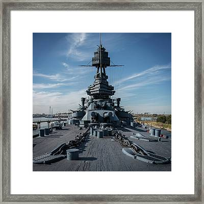 Main Deck, Uss Texas Framed Print