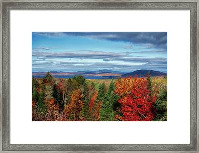 Maine Fall Foliage Framed Print