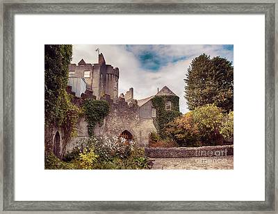 Framed Print featuring the photograph Malahide Castle By Autumn  by Ariadna De Raadt