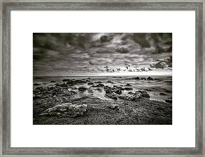 Framed Print featuring the photograph Malibu Clouds by John Rodrigues