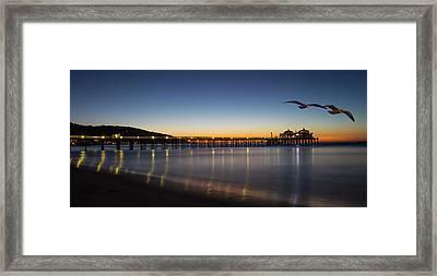 Malibu Pier At Sunrise Framed Print