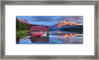 Maligne Lake T-shirt Framed Print