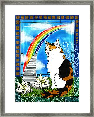 Mama Turtle - Cat Painting Framed Print