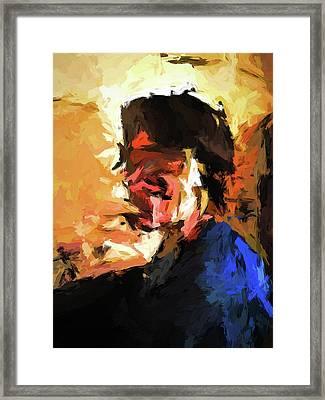 Man In The Cobalt Blue Shirt Framed Print