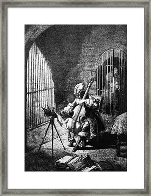 Man In The Iron Mask Framed Print by Hulton Archive