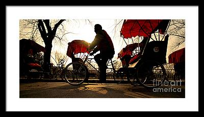 Rickshaw Framed Prints