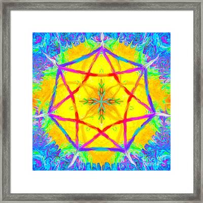 Mandala 12 9 2018 Framed Print