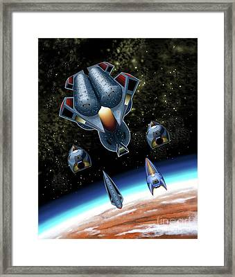 Mangle Approaches Nisip Framed Print