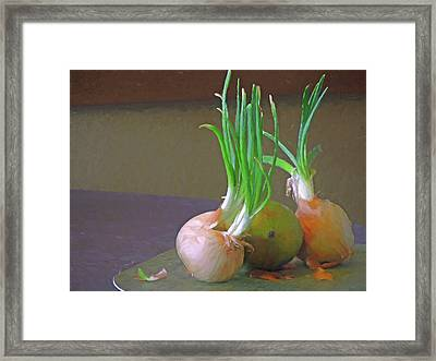 Framed Print featuring the mixed media Mango At Rest  by Lynda Lehmann