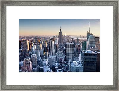 Manhattan Skyline Framed Print by Chris Hepburn