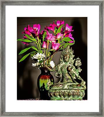 Framed Print featuring the photograph Manjushri- Bodhisattva Of Wisdom by Lita Kelley