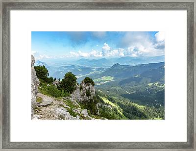 Framed Print featuring the photograph Mannlsteig, Berchtesgadener Land by Andreas Levi