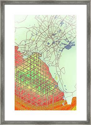 Map Of Athens Framed Print