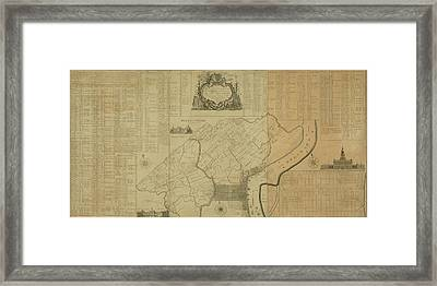 Map Of Philadelphia, Pennsylvania 1774 Framed Print
