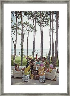 Marbella House Party Framed Print