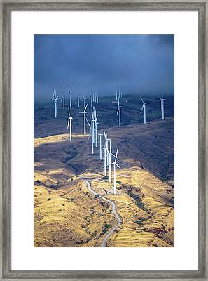 March Of The Windmills Framed Print