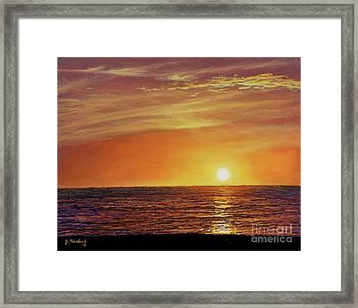 Marco Island Sunset Framed Print