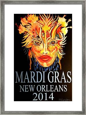 Mardi Gras Lady Framed Print