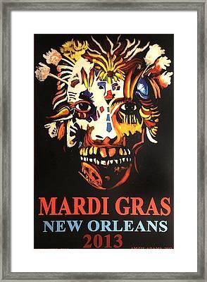 Mardi Gras Spirit 2013 Framed Print