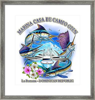 Marina Casa De Campo Open Art Framed Print