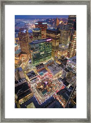 Market Square From Above  Framed Print