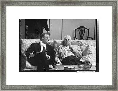 Marlon Brandocharlie Chaplin Framed Print by Alfred Eisenstaedt