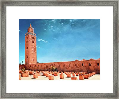 Marrakech, Koutoubia Mosque Framed Print by Alberto Manuel Urosa Toledano