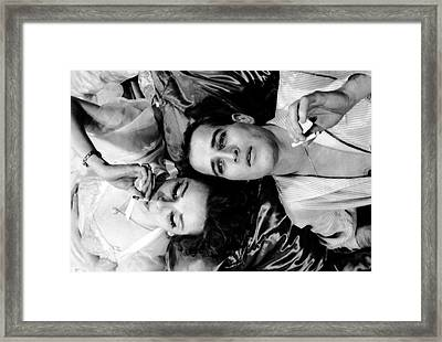 Married Actors Joanne Woodward And Paul Framed Print