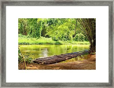 Martha Brae River Bamboo Rafting Framed Print