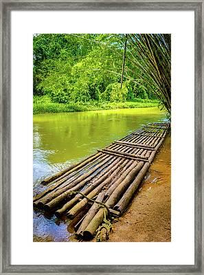 Martha Brae River Rafting Framed Print