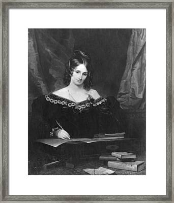 Mary Shelley Framed Print by Hulton Archive