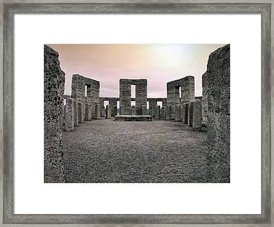 Maryhill Stonehenge Framed Print by Leland D Howard
